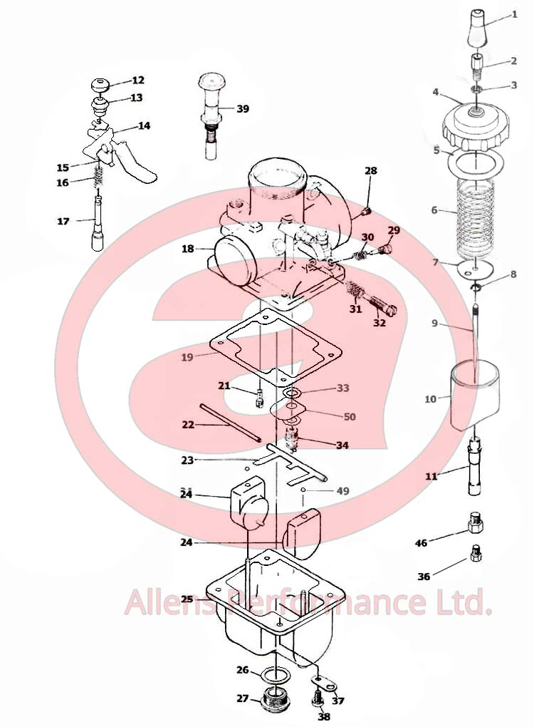 Exploded Diagram Mikuni VM38-9