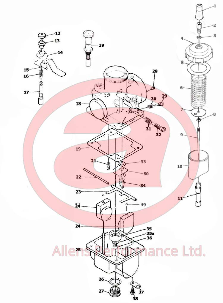 Exploded Diagram Mikuni VM44-3