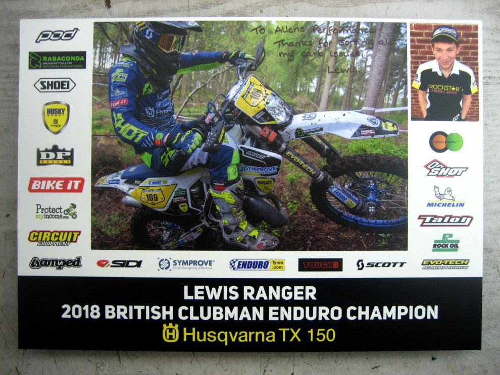 Leis Ranger 2018 British Clubman Enduro Champion Husqvarna TX150 Rangers